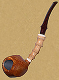 Blowfish with boxwood shank, Snail grade, 2004